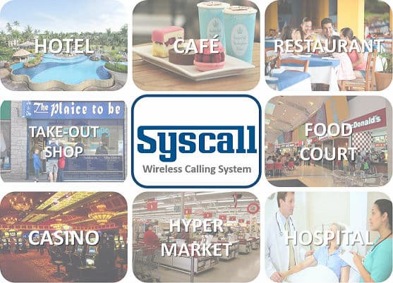 Syscall Wireless Call 1 Button Transmitter 4_colors